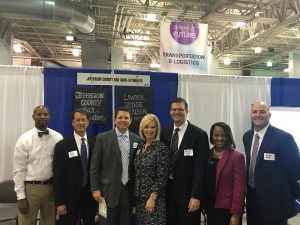 Clint Brasher and other members of the Jefferson County Bar Association at the Southeast Texas Career Expo