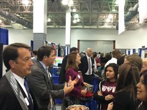 Brasher Law Firm attorney Clint Brasher engages students at the Southeast Texas Career Expo